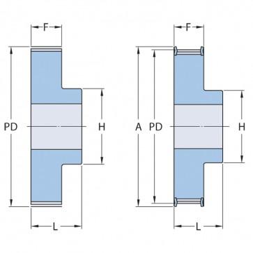 Aluminium_tandriemschijf_27-T5-24_2_PHP_27-T5-24RSB_SKF_T5x24x5_mmx16_mmxVoorgeboord